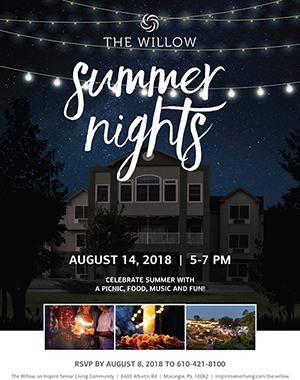 Inspirit Senior Living Summer Nights poster